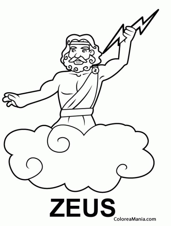 Colorear Zeus, hijo de Cronos y Rea 5 (Mitología Griega), dibujo ...