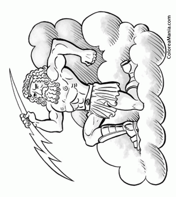 Colorear Zeus, hijo de Cronos y Rea 6 (Mitología Griega), dibujo ...