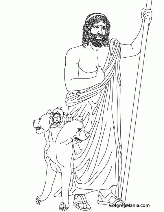 Colorear Hades (el Plutón romano) (Mitología Romana), dibujo para ...
