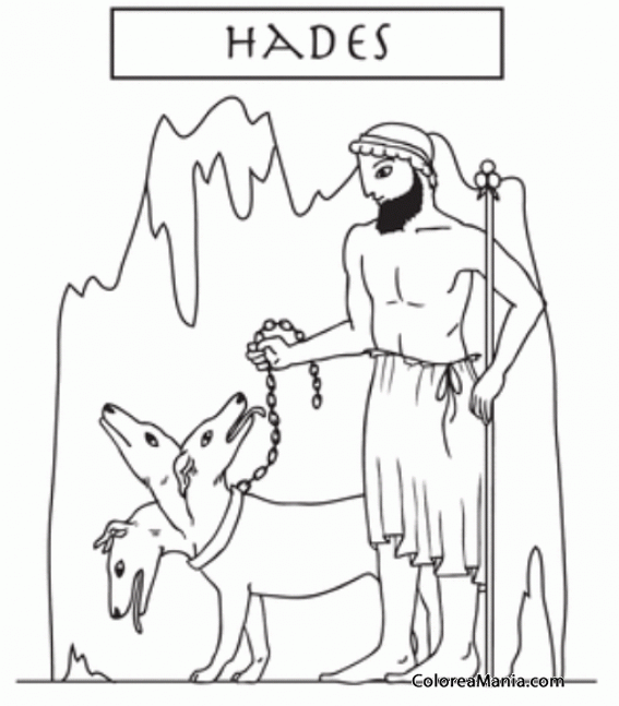 Colorear Hades (el Plutón romano) 2 (Mitología Griega), dibujo para ...