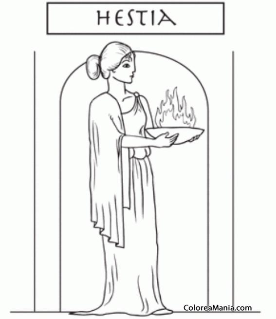 Colorear Hestia Hermana De Zeus 2 Mitología Griega Dibujo Para