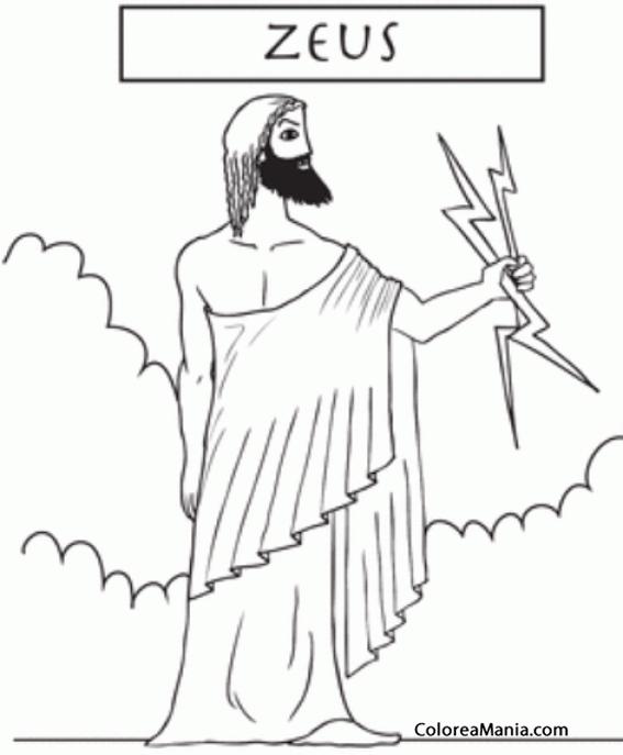 Colorear Zeus del Olimpo 3 (Mitología Griega), dibujo para colorear ...