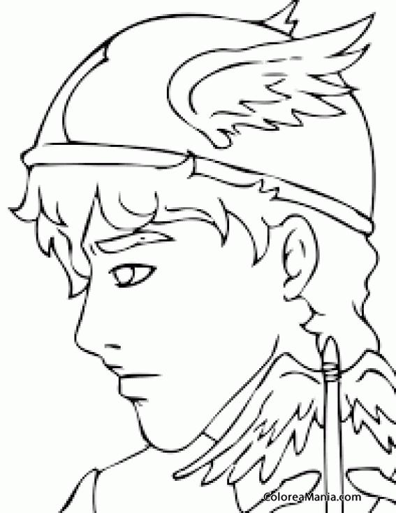 Colorear Hermes (Mercurio) (Mitología Griega), dibujo para colorear ...