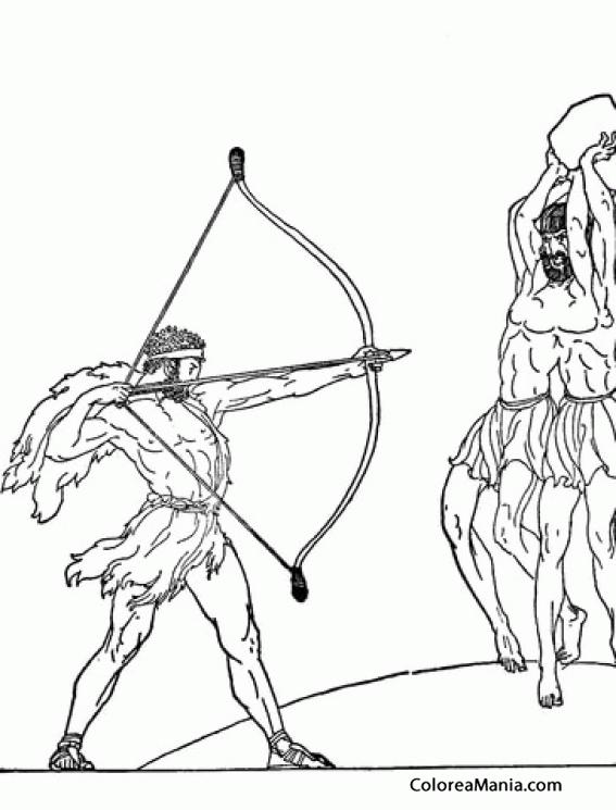 Colorear Hércules y Geryon (Mitología Griega), dibujo para colorear ...