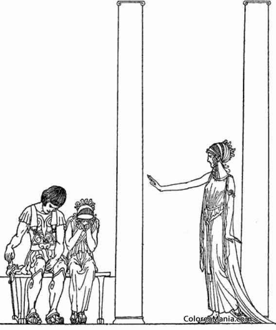 Colorear Jasón Y Medea Con Circo (Mitología Griega