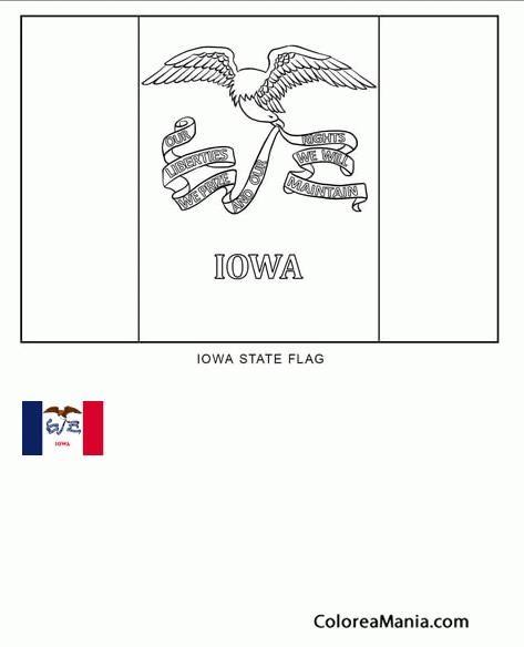 Increíble Iowa Estado Para Colorear Composición - Páginas Para ...
