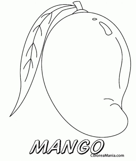 Colorear M De Mangos Frutas Dibujo Para Colorear Gratis