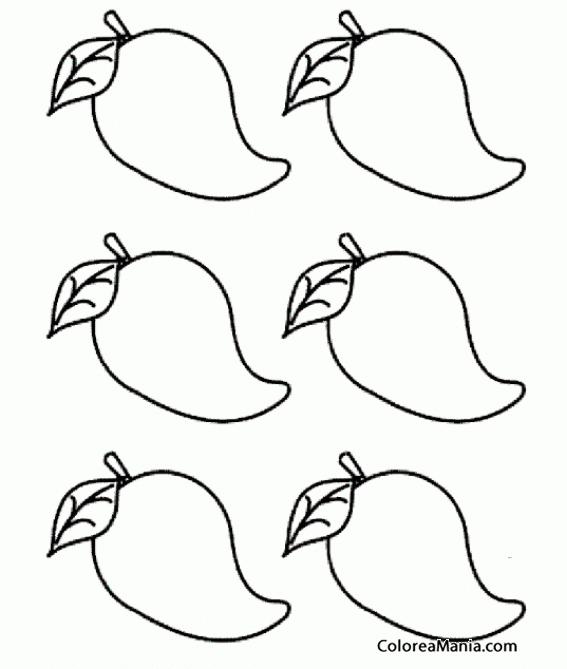 Minions minions coloring page - Colorear Seis Mangos Frutas Dibujo Para Colorear Gratis