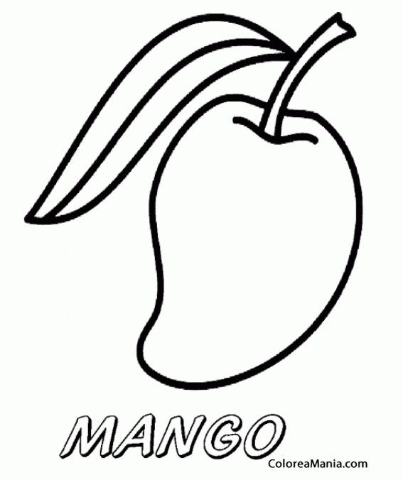 Colorear Mango Pequeño Frutas Dibujo Para Colorear Gratis