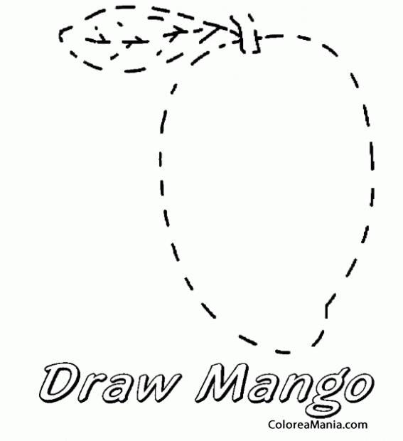 Colorear Dibuja Un Mango Aprendiendo A Dibujar Dibujo Para