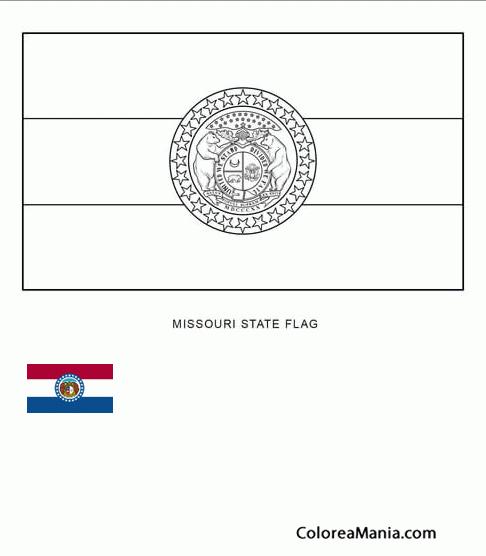 Colorear Misuri (estado de U.S.A.) (Banderas de paises), dibujo para ...