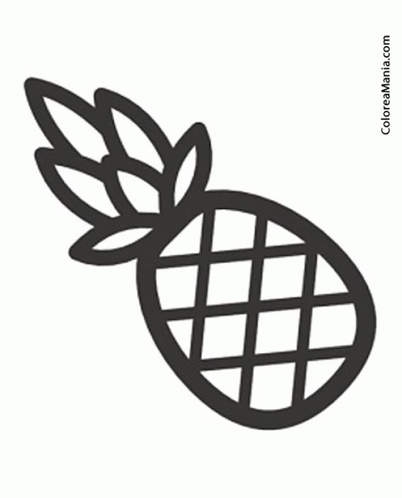 Colorear Piña Ananás Pineapple 2 Frutas Dibujo Para Colorear Gratis