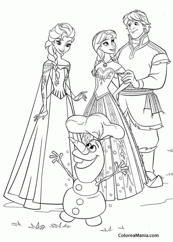 Colorear Frozen 2 Frozen Dibujo Para Colorear Gratis