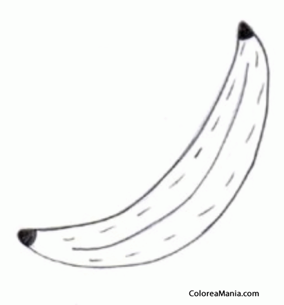 Colorear Plátano. Platain. Banana. Piantaggine 3 (Frutas), dibujo ...