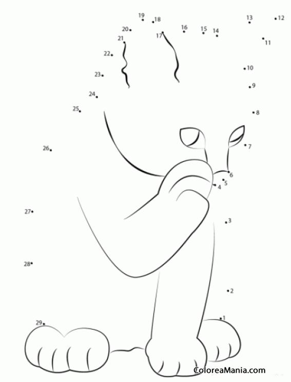 Colorear Gatito lamiéndose una pata (29) (Animales), dibujo para ...