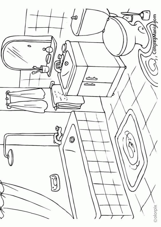 Dibujos para colorear de ni os utilizando el ba o ideas for Cuarto para colorear