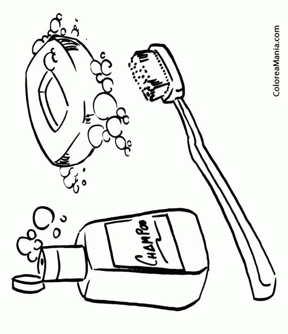 Colorear Higiene (El baño), dibujo para colorear gratis