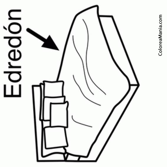 Colorear Edredon 2 (La Habitación), dibujo para colorear gratis