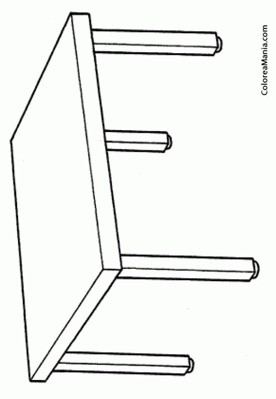 Colorear mesa centro el saln dibujo para colorear gratis for Mesa de dibujo ikea