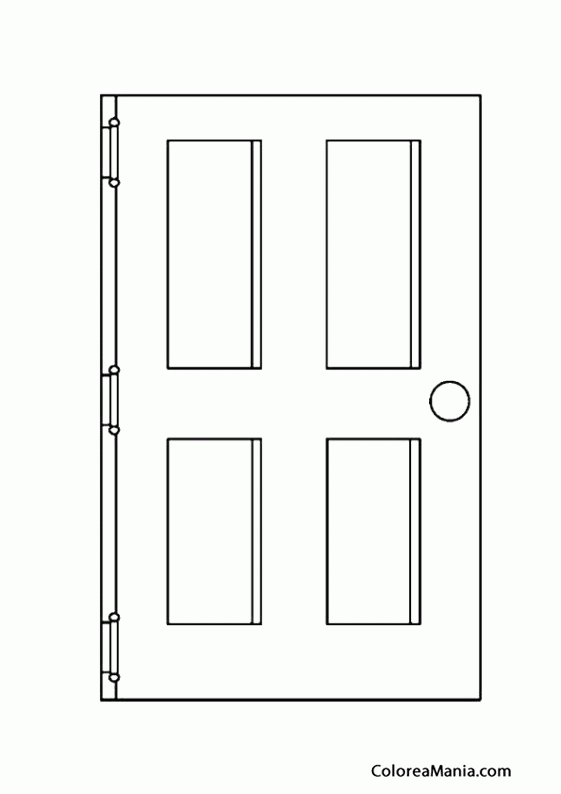 Colorear puerta el saln dibujo para colorear gratis for Como preparar una puerta de madera para pintar