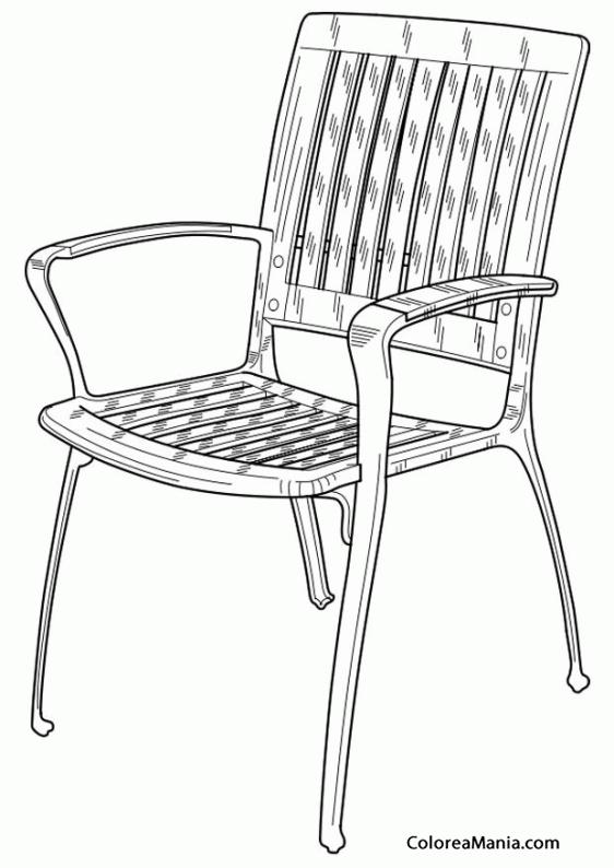 Colorear silla de jardn el jardn dibujo para colorear for Sillas para imprimir