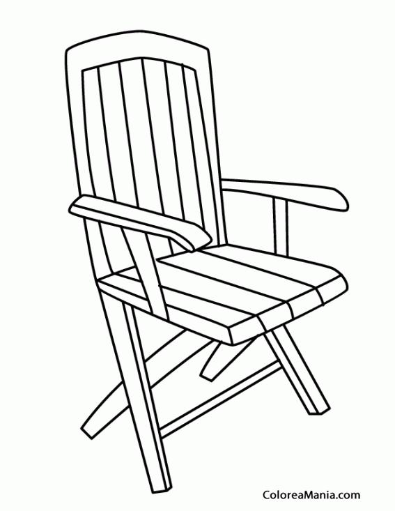 Colorear silla de jardn 2 el jardn dibujo para colorear for Silla para dibujar