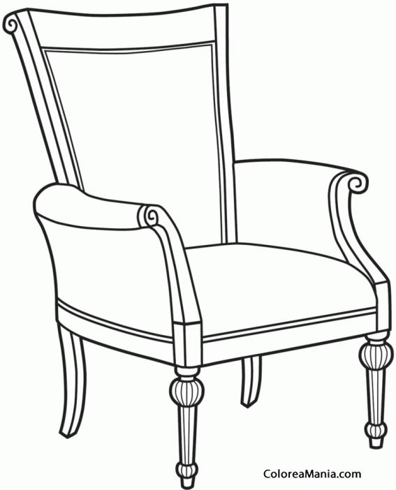 Colorear silla de jard n 3 el sal n dibujo para for Sillas para dibujar facil