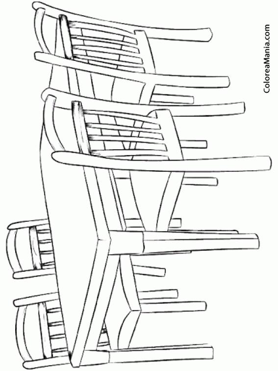 Colorear mesa de comedor el saln dibujo para colorear for Comedor para colorear