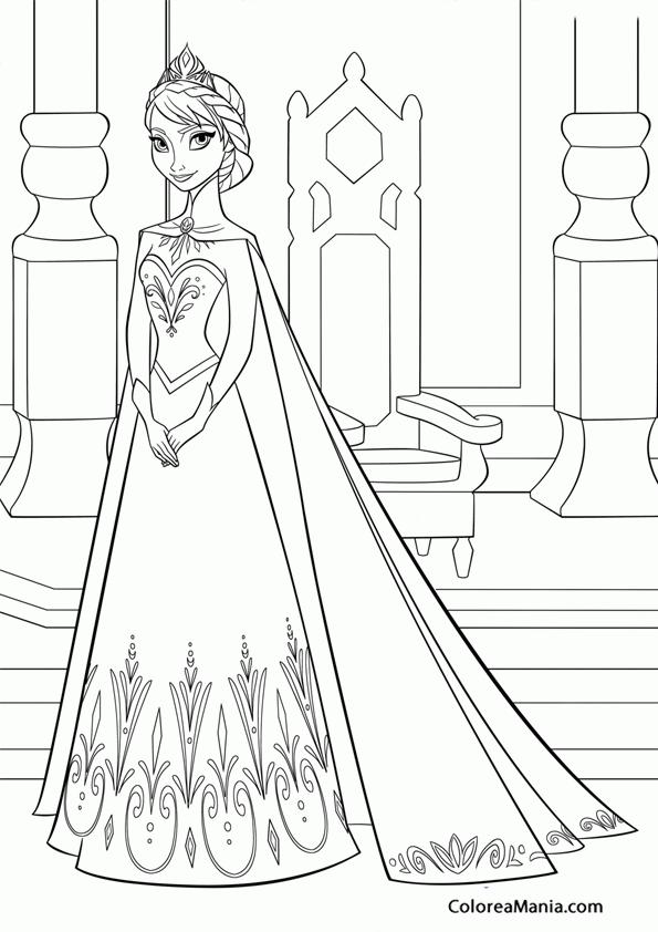 Colorear Elsa 2 Frozen Dibujo Para Colorear Gratis