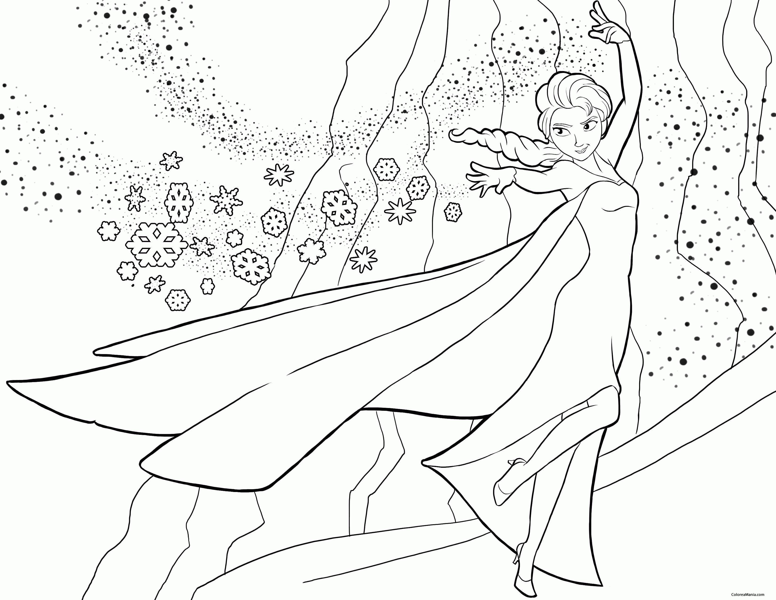 Colorear Elsa 3 Frozen Dibujo Para Colorear Gratis