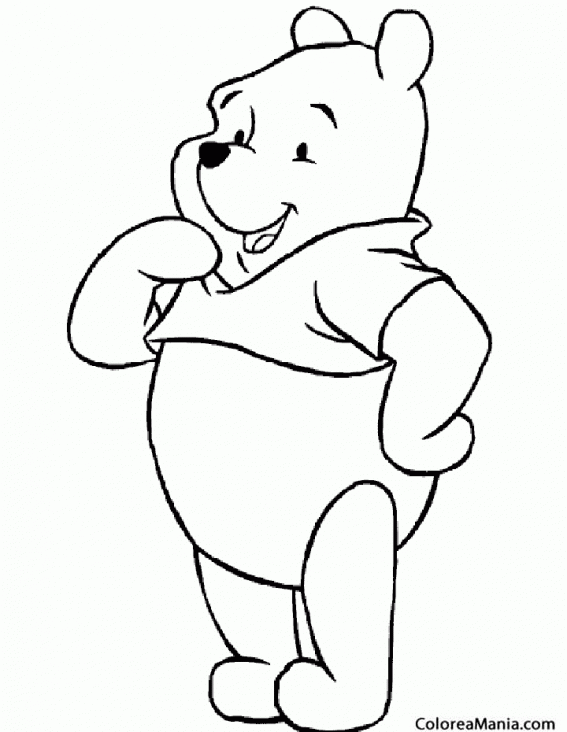 Colorear Oso Winnie The Pooh Duda Animales De La Selva