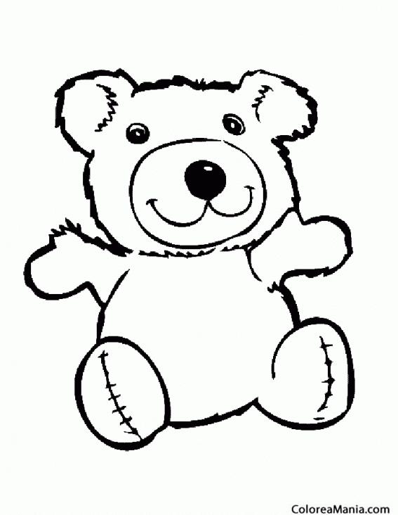 Colorear Oso trapo (Animales de la Selva), dibujo para colorear gratis