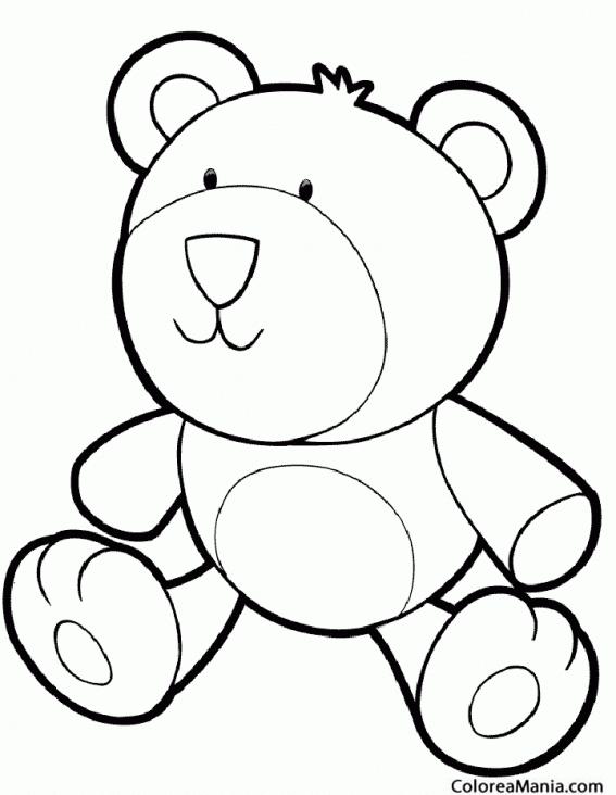 Colorear Oso juguete (Animales de la Selva), dibujo para colorear gratis