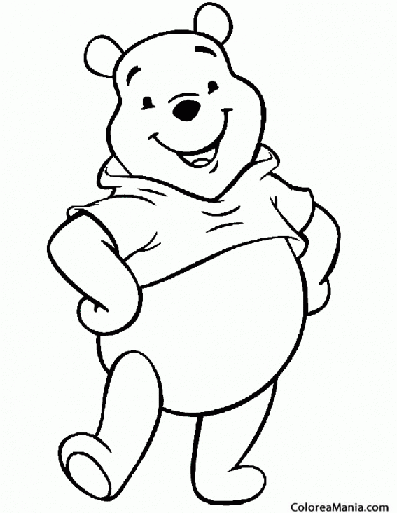 Colorear Winnie The Pooh Da Un Paso De Baile Animales De La