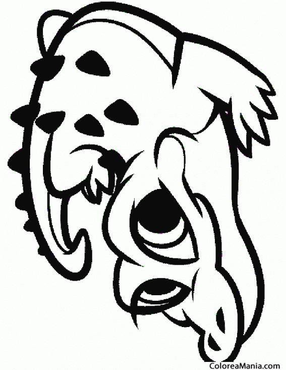 Colorear Cocodrilo con ojos grandes (Reptiles), dibujo para colorear ...