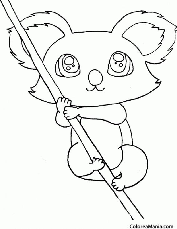 Koala Bebe Para Colorear Dibujo de Koala bebé para Colorear ...