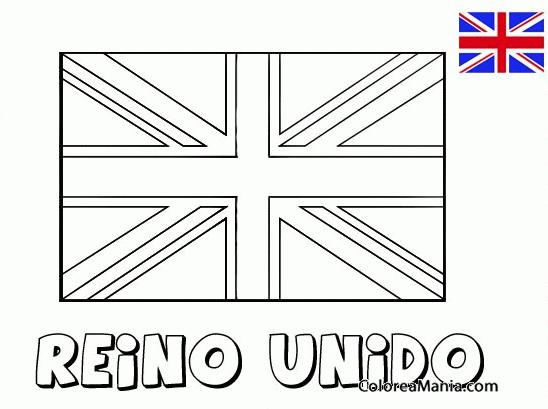 Colorear Reino Unido Banderas De Paises Dibujo Para Colorear Gratis