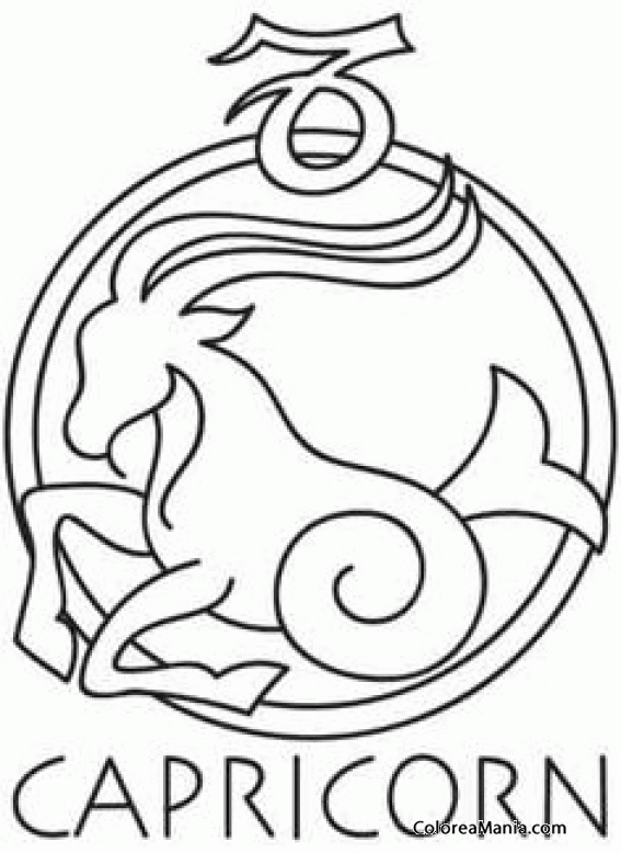 Capricorn tattoo coloring coloring pages for Capricorn coloring pages