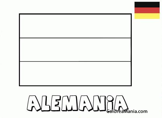Niños De Paises Para Pintar: Colorear Alemania. Germany. Deutschland (Banderas De