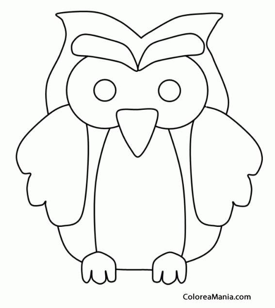 Colorear silueta bhos aves dibujo para colorear gratis - Siluetas para imprimir ...