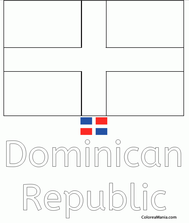 Colorear dominican republic rep blica dominicana for Dominican republic coloring pages