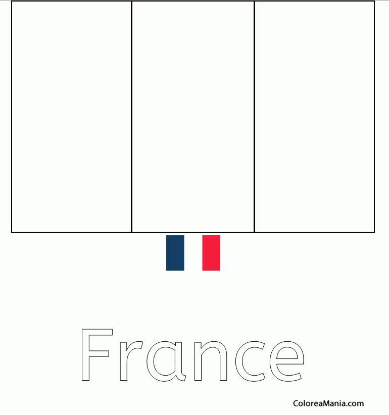 Colorear República Francesa Francia France Banderas De