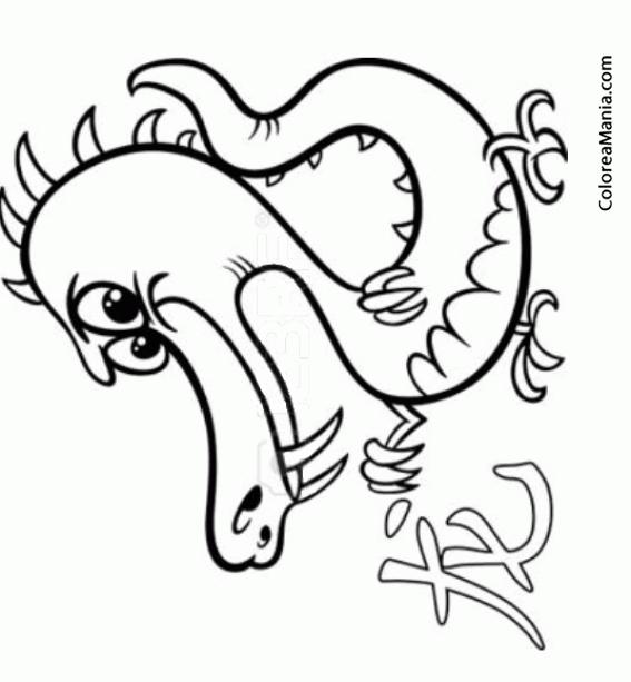 Colorear Horóscopo Chino, Signo del Dragón 3 (Símbolos Zodíaco ...