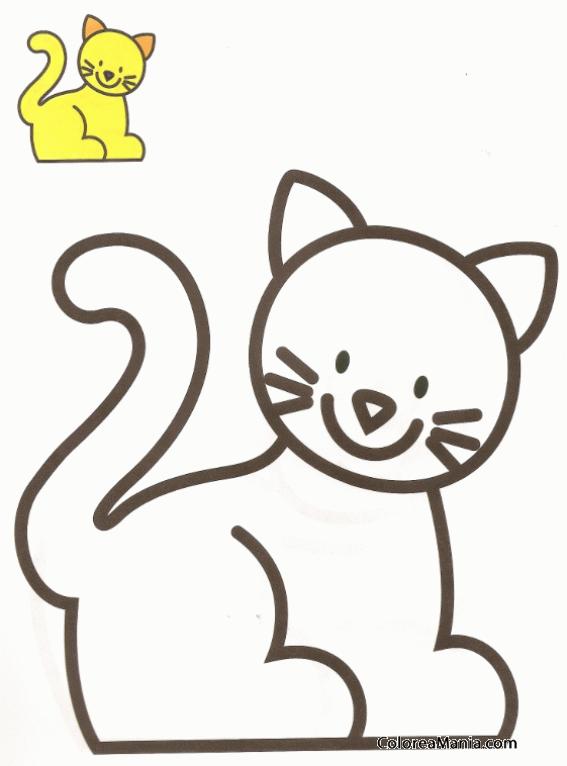 Colorear Silueta De Gato Animalitos Dibujo Para Colorear Gratis