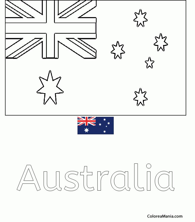 Colorear Mancomunidad de Australia (Banderas de paises), dibujo para ...