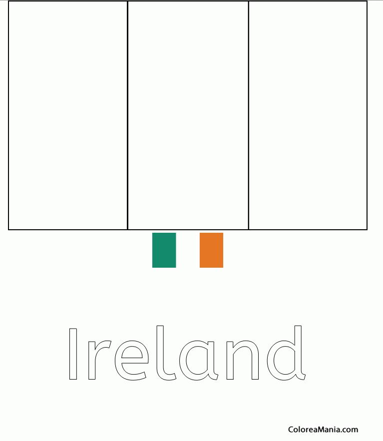 Excelente Colorear Bandera Irlandesa Ornamento - Ideas Para Colorear ...