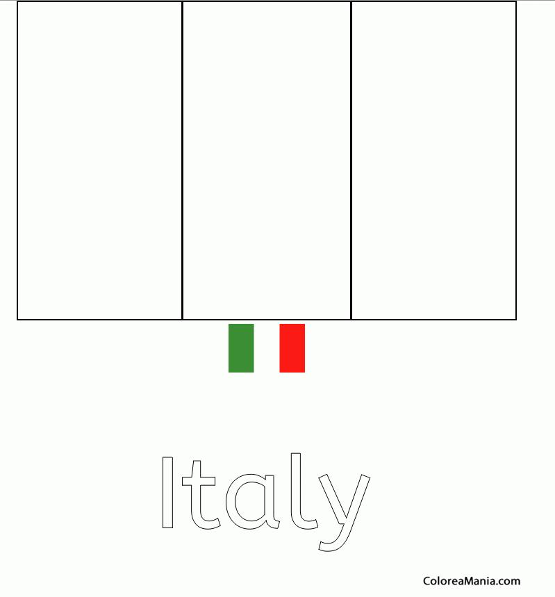Colorear Italia Italy Italiie 2 Banderas De Paises Dibujo Para