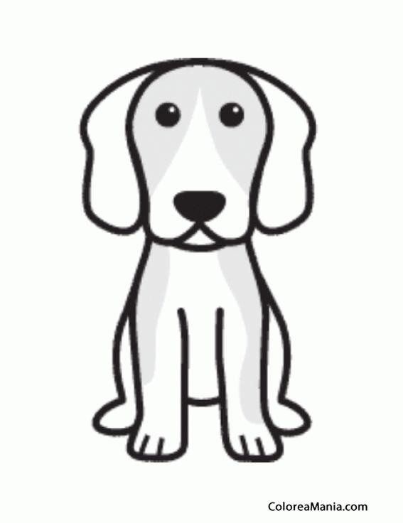 Silueta Perro Beagle 2 on Dibujos De Navidad Para Colorear
