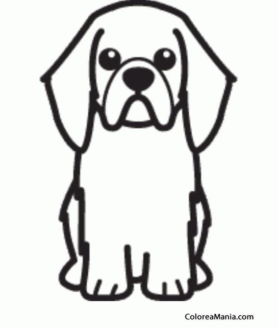 Colorear silueta perro toy spaniel ingls animales - Siluetas para imprimir ...