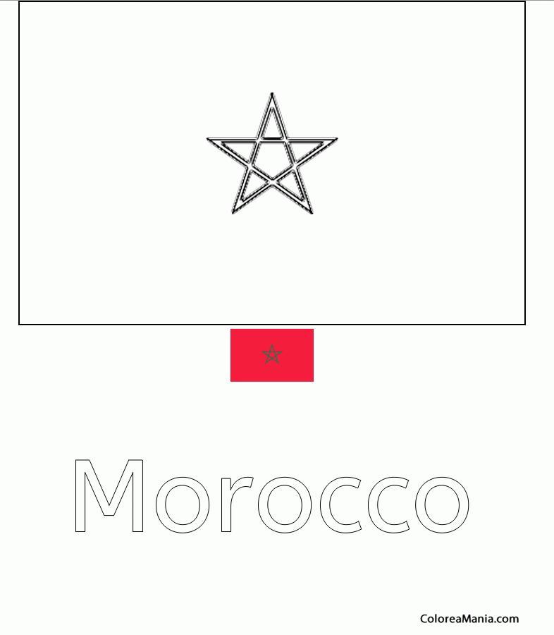 Colorear Marruecos Morocco Maroc Banderas De Paises Dibujo Para Colorear Gratis